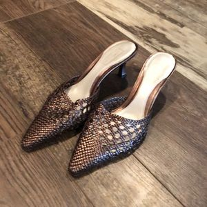 Nordstrom Cleo Leather Braided Kitten Heel Shoes